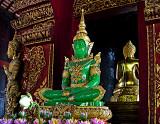 Green jade Buddha image