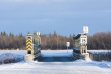 Nov 30 bridge to the Moosonee Airport