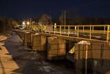 Dam along Highway 573 at night