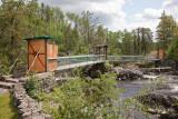 Closed suspension bridge at Kapkigiwan
