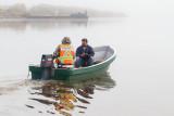 Vern Glenesk and Terry Chakasim set off on a foggy morning 2012 September 29