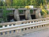 Bridge on secondary highway 573 and dam at Charlton, Ontario
