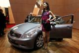 Mondial de l'Automobile 2008 - Sur le stand de la marque Infiniti (modèles haut de gamme de Nissan)