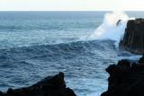Forte houle au Cap Méchant (le 3 septembre 2008)