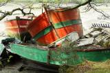 Cimetiere de bateaux de la rivière du Bono