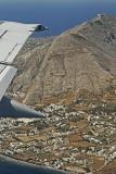Our flight above Santorini