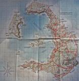 Carte de l'archipel de Santorin - Map of the archipelago of Santorini