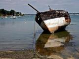 Anse d'Arzon épave d'un bateau de pêche