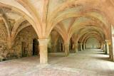 Visite de l'abbaye de Fontenay - La salle des moines