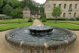 Visite de l'abbaye de Fontenay - La fontaine et le bassin circulaire