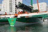 Le maxi trimaran de 105 pieds (31,50m) Groupama 3