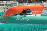Détail du pont du maxi trimaran Groupama 3
