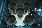 The business end of a Saturn V rocket