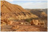 The red part of Nekrot wadi