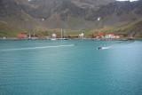 Grytviken from the bay