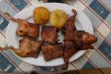 Cuy chactado (deep-fried guinea pig)