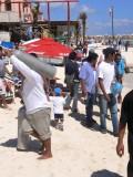 Roberto at Work, Playa del Carmen, Mexico