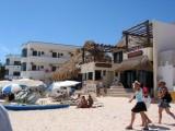 Hotel on beach, Playa del Carmen, Mexico