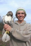 me with red-tailed hawk