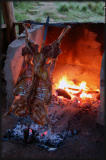 Asado - the lamb has been grilled for more than 3 hours.