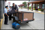 Hauling our luggage - weight limit: 35lbs/person