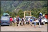 The BioBio Futaleufu Camp - the staff comes out to greet us