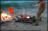 River is Azul, Lamb is anaranjado, paradilla is cooking