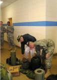 Capt. Forrest helps Bob Searl, Sr gather the gear
