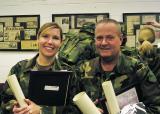 Platoon Leader Tamera T.  & SQD  Leader Bob Searl, Jr