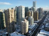 Vancouver Empire Landmark hotel room 3009 view