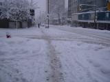 Vancouver Robson street snow