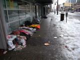 Vancouver homeless on Granville street