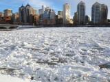 Calgary frozen Bow river