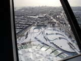 Montreal olympic stadium tower view