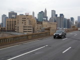 New York City view from Brooklyn bridge