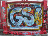 New York City Williamsburg bridge graffiti
