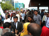 Mohamed Nasheed president of The Maldives