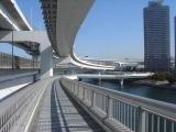 Tokyo walking across Rainbow Bridge