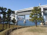 Tokyo view from Odaiba Rainbow Park