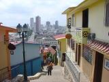 Guayaquil descending Cerrro Santa Ana