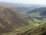 Langdale from high on Bowfell