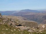 Looking north towards Blencathra from Bowfell