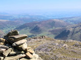 Windermere from summit cairn of Bowfell