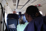 Onboard the plane to Príncipe