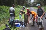 Sorting the camping loads,Cao Grande, São Tomé