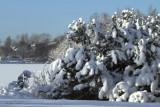 Hogganfield Loch winter scene, Glasgow