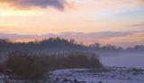 Christmas Day sunset, Hogganfield Loch, Glasgow