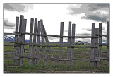 Fence , Mormon homestead, Yellowstone N.P.