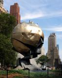 WTC Globe Statue