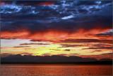 Fiery Cascades Sunset
